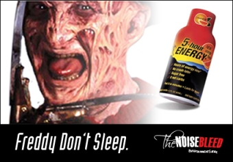 Freddy Krueger to Promote 5-Hour Energy